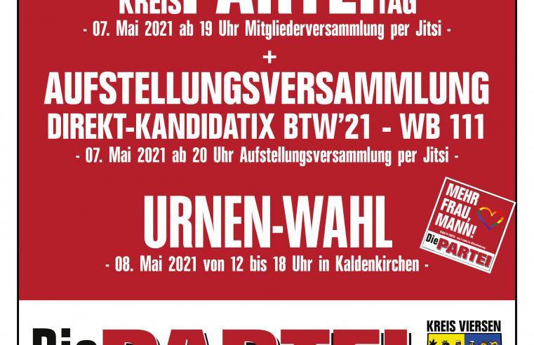 KreisPARTEItag (MV) und Aufstellungsversammlung BTW21